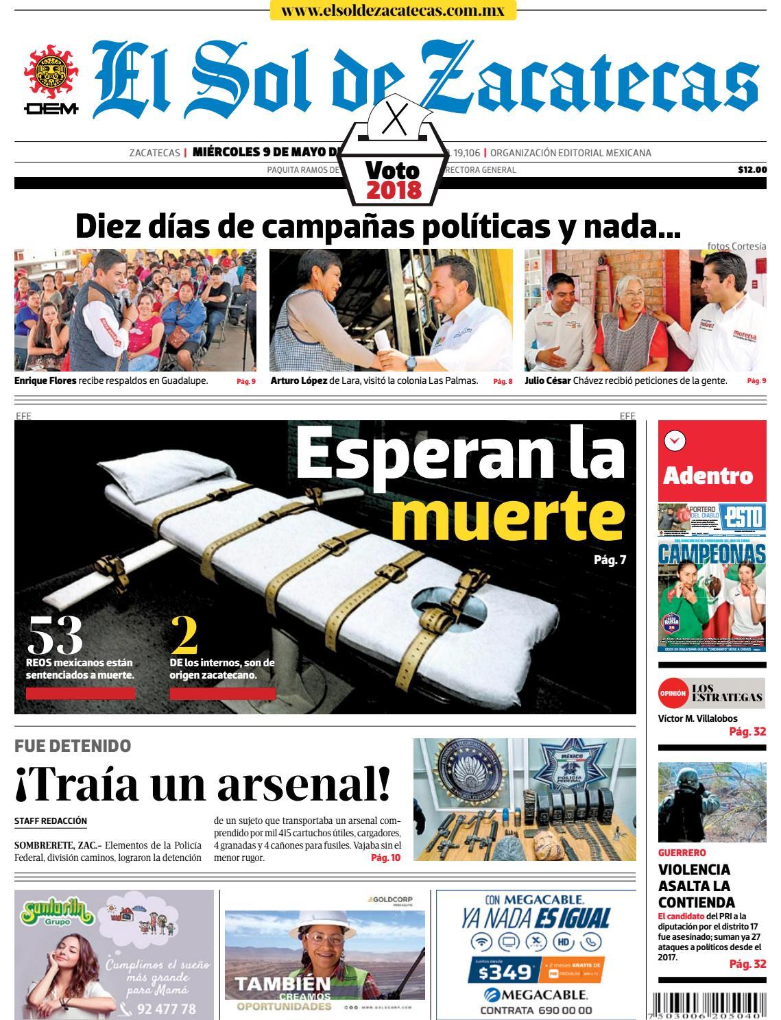 El Sol de Zacatecas 9 de mayo 2018 by El Sol de Zacatecas - issuu 7c3cd303d9c93