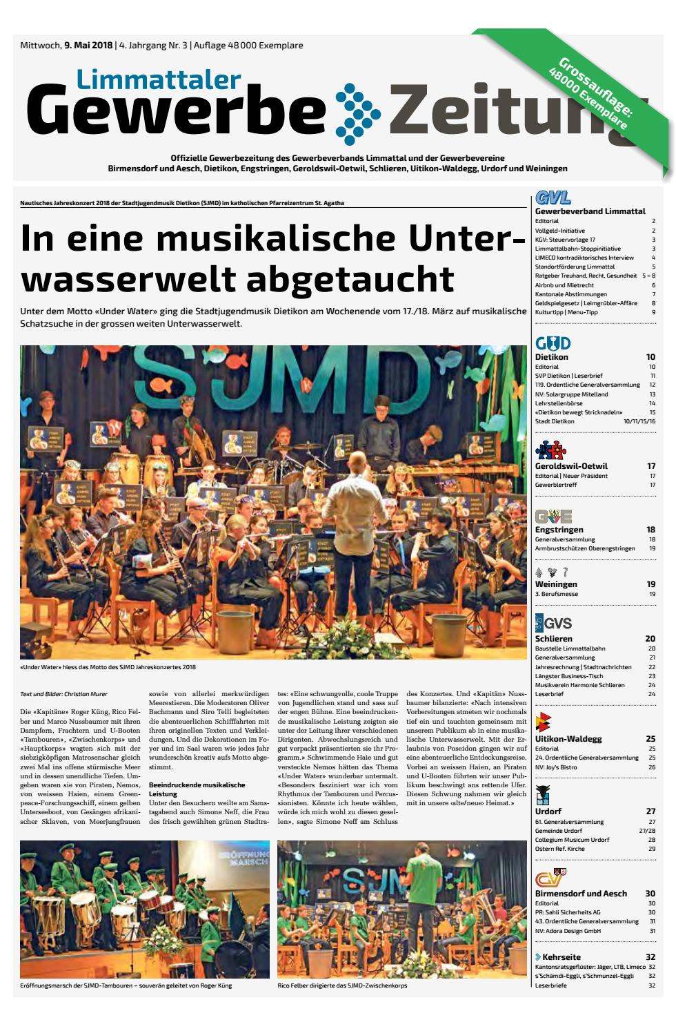 Limmattal mai 2018 by Die Gewerbezeitungen - issuu