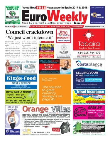 ef7dbdaf36ee5a Euro Weekly News - Costa Blanca North 10 – 16 May 2018 Issue 1714 by ...