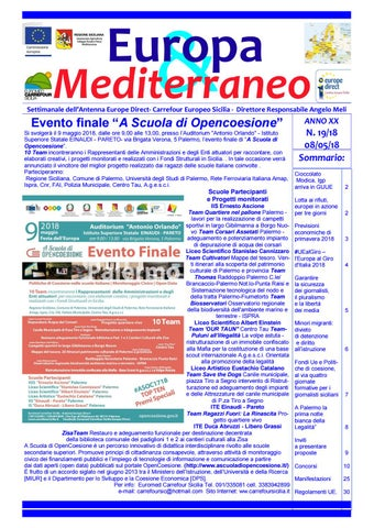 7ea42ea0ae Europa mediterraneo n 19 dell' 08 05 2018 by Euromed Carrefour Sicilia -  Europe Direct Palermo - issuu