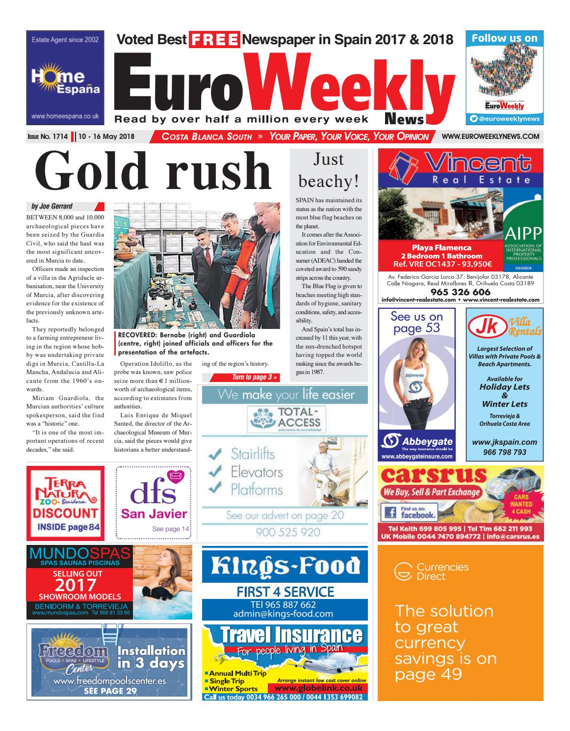 Euro Weekly News - Costa Blanca South 10 – 16 May 2018 Issue 1714 by ...