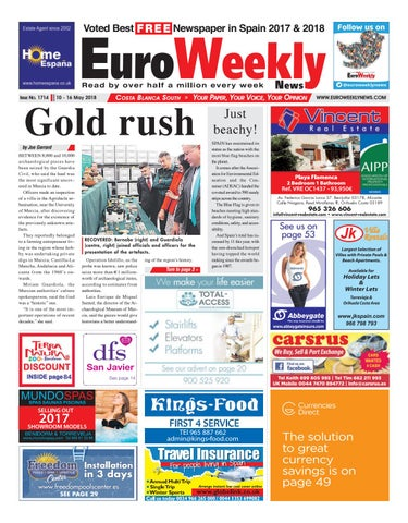 Euro weekly news costa blanca south 10 16 may 2018 issue 1714 by page 1 fandeluxe Choice Image