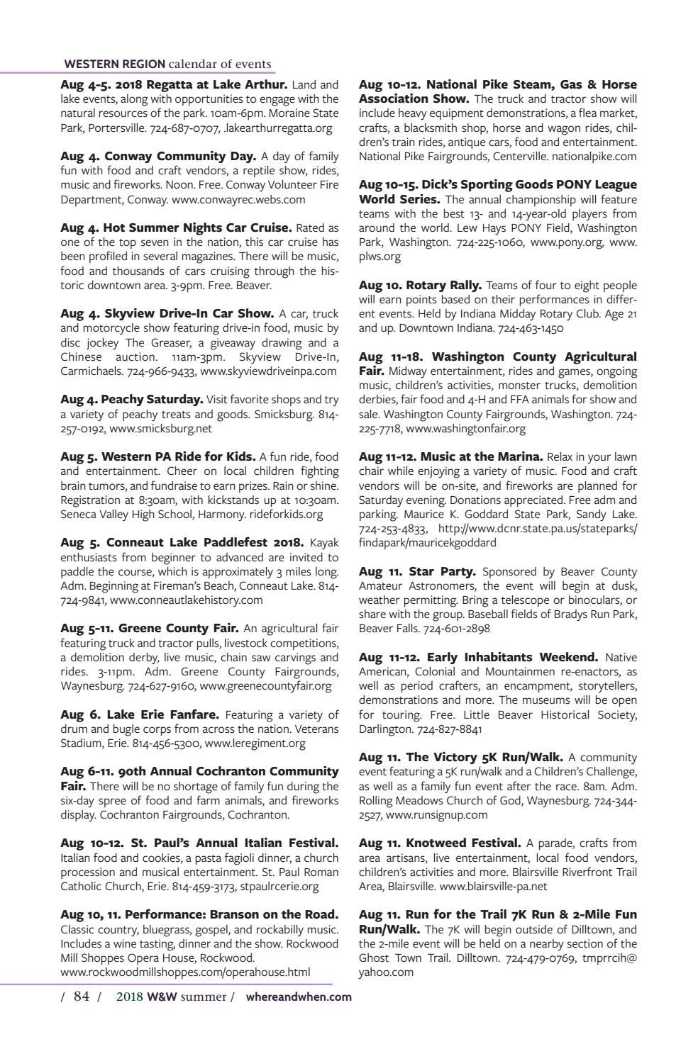 Summer 2018 Where & When Pennsylvanias Travel Guide by Where