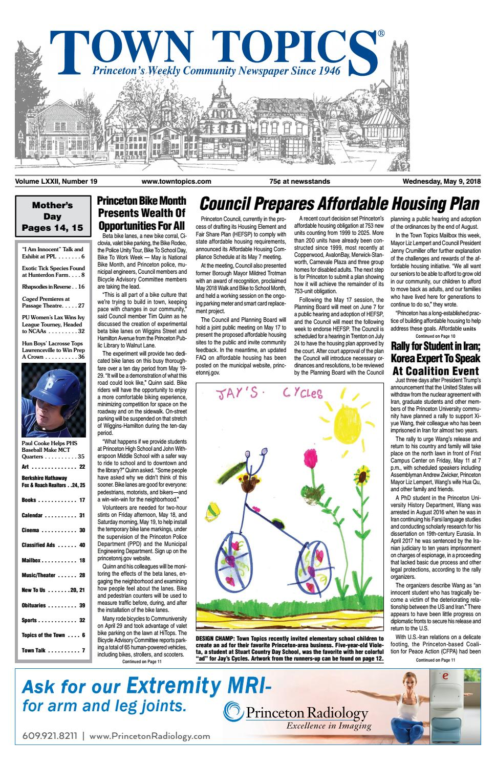 Town Topics Newspaper May 9 2018 By Witherspoon Media Group Issuu Cd Writer 8211 How The Burner Works