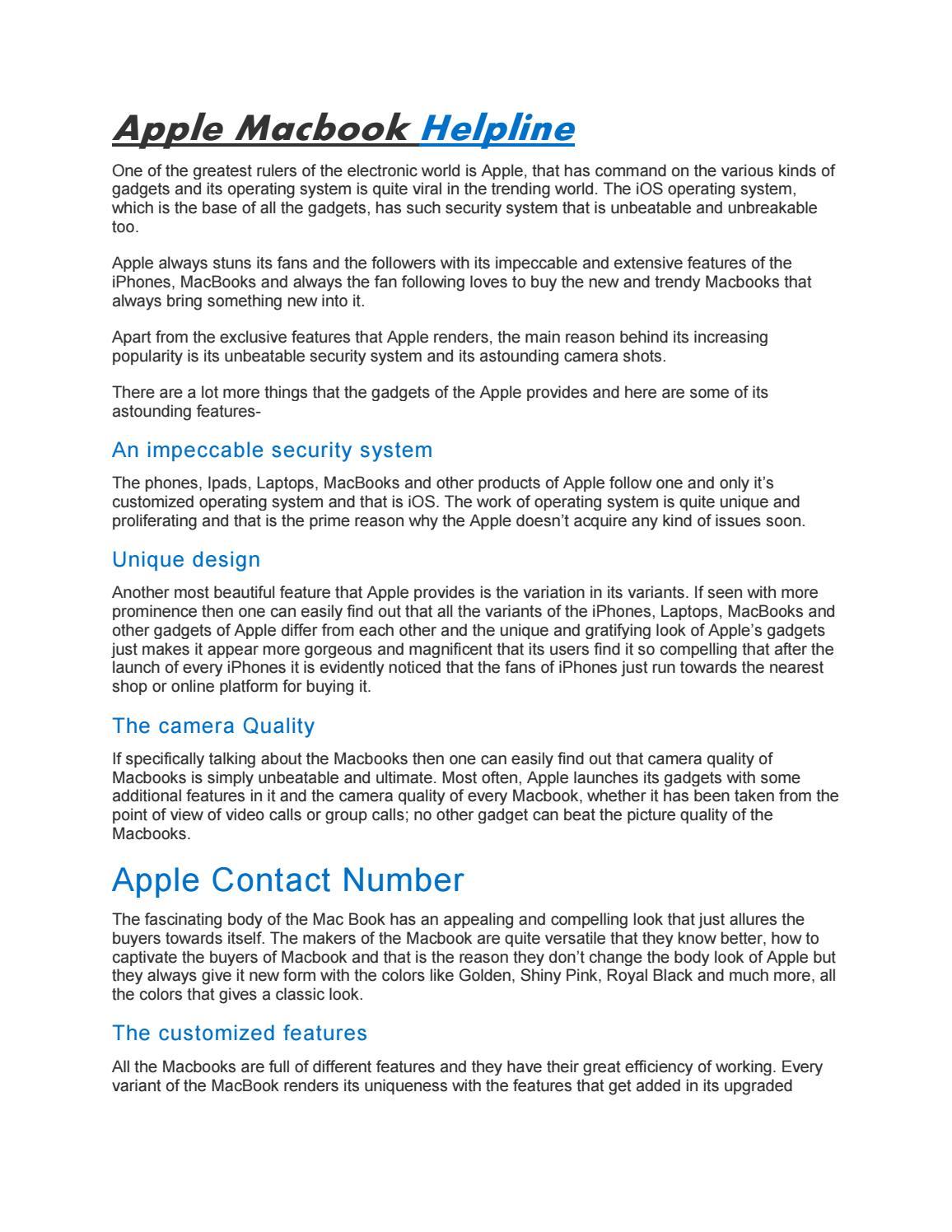 Macbook Customer Service uk by mountea332 - issuu