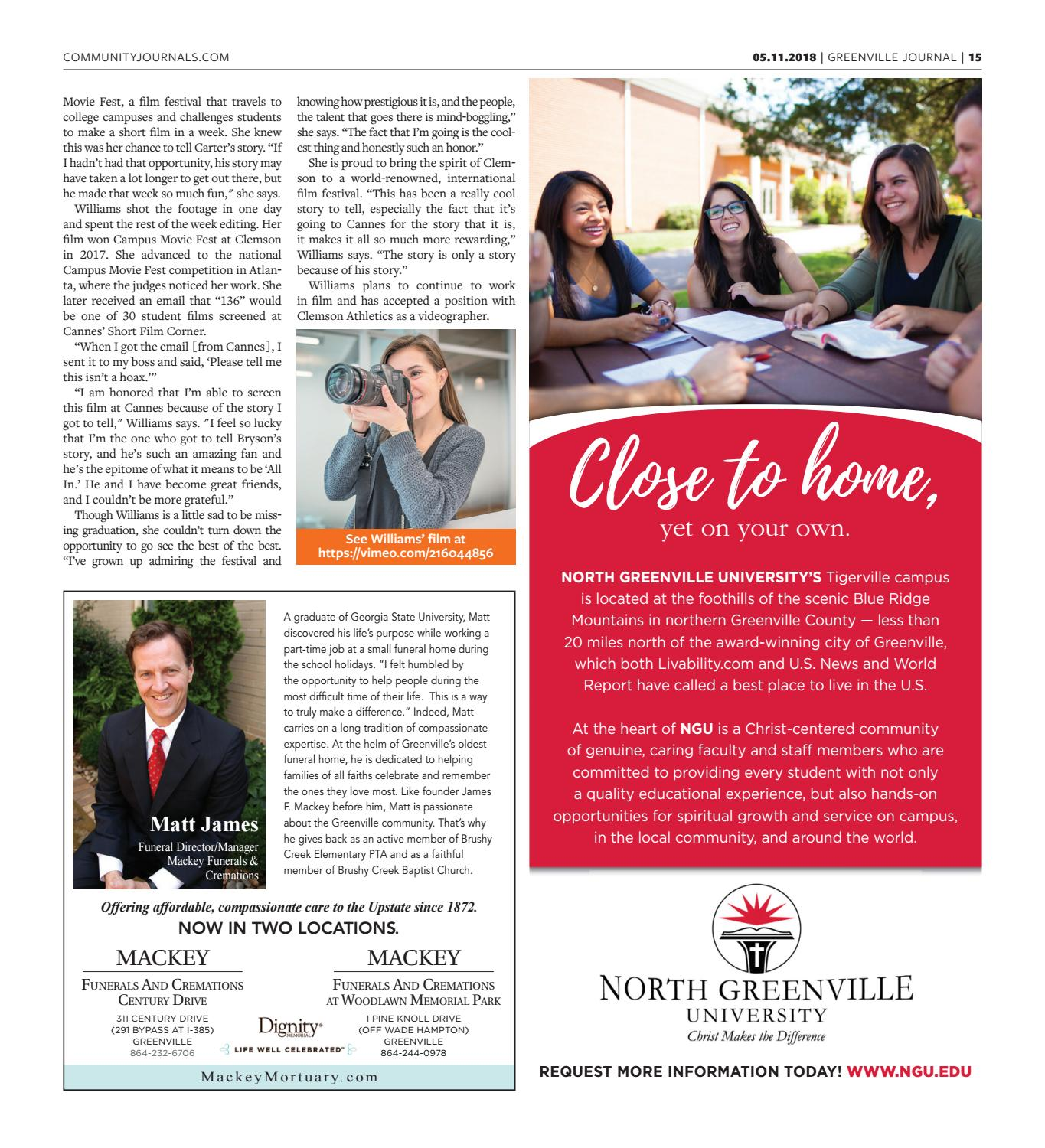 May 11, 2018 Greenville Journal by Community Journals - issuu