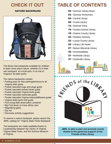 Page 2 of Check it Out: Nature Backpacks