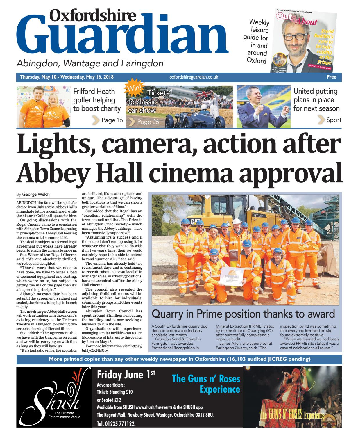 10 May 2018 Oxfordshire Guardian Abingdon By Taylor Newspapers Issuu