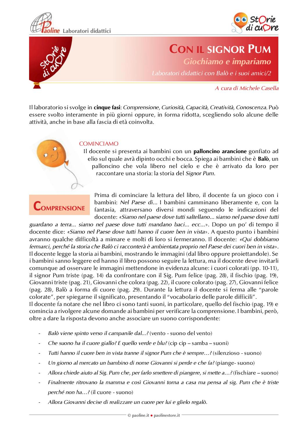 Un Cuore Per Il Signor Pum Laboratorio Didattico By Paolineit Issuu