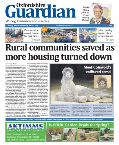 c4c45eee59fc0 10 may 2018 oxfordshire guardian witney by Taylor Newspapers - issuu