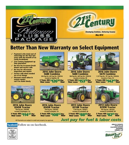 May 2018 Used Equipment Deals by 21st Century Equipment LLC