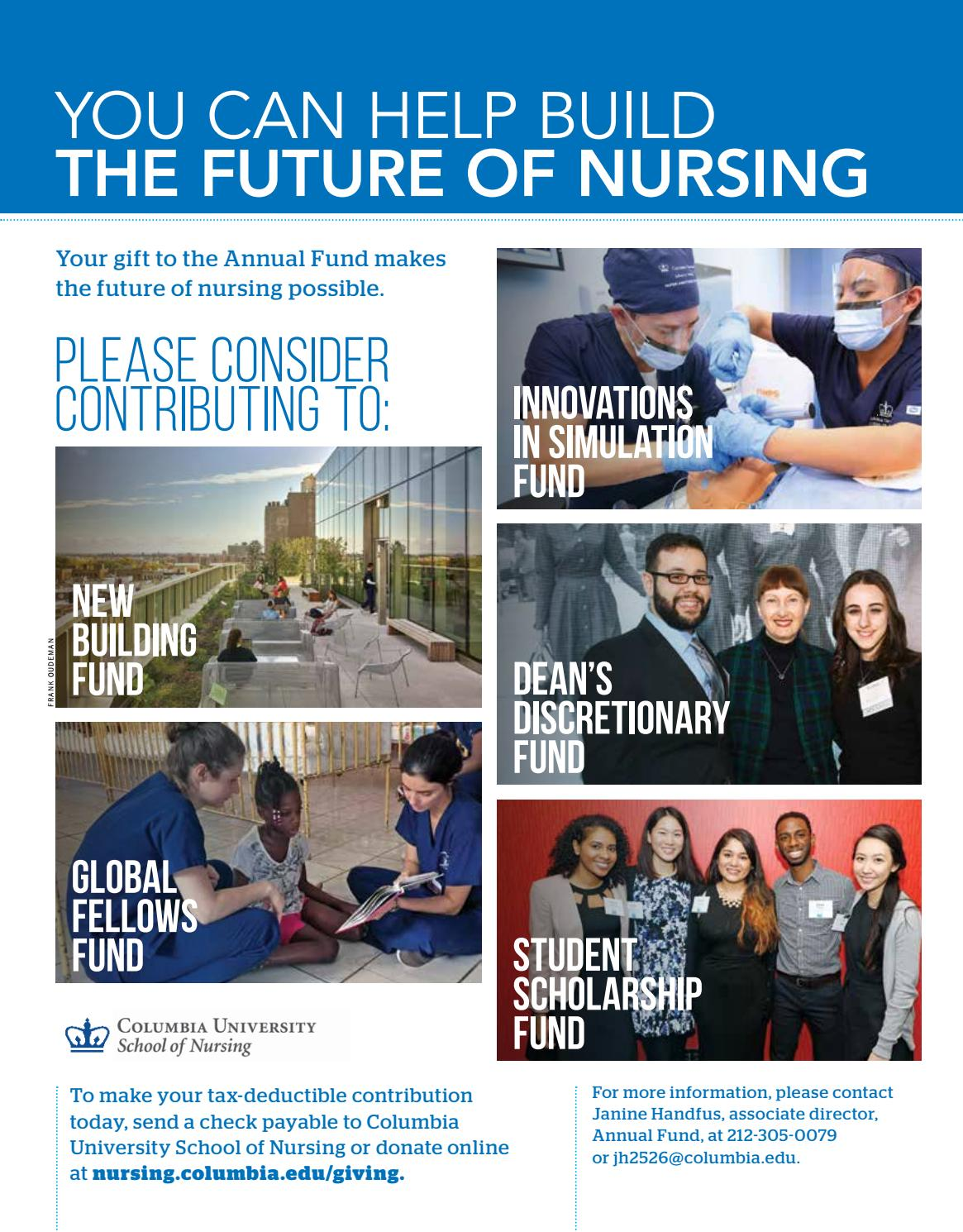 Columbia Nursing Spring 2018 by Columbia University School