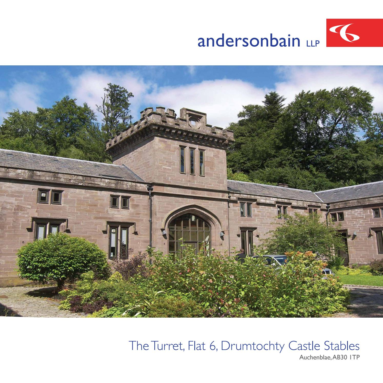Andersonbain • The Turret, Flat 6, Drumtochty Castle Stables