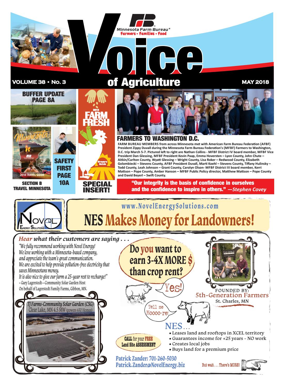 May 2018 Voice Of Agriculture By Minnesota Farm Bureau