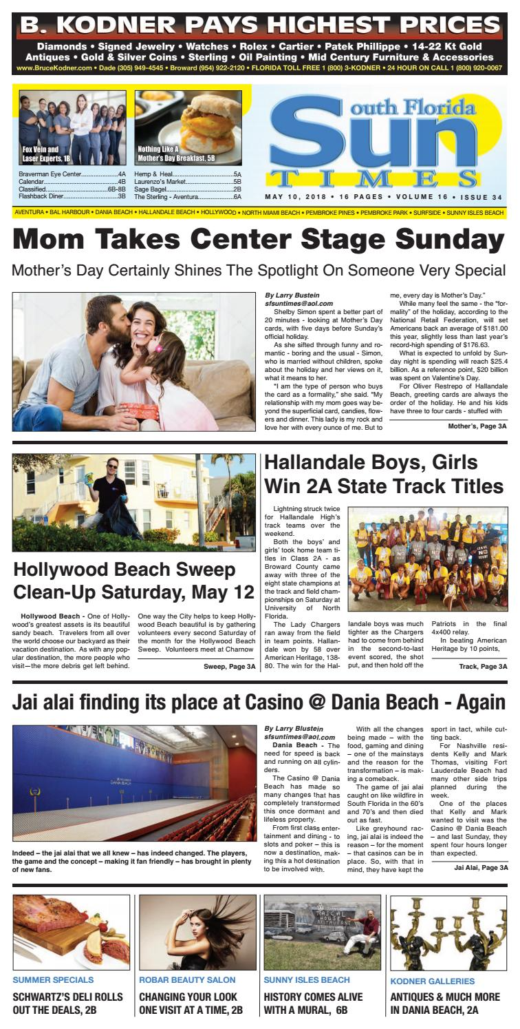 Sun Times Issue 05 10 18 by The South Florida Sun Times