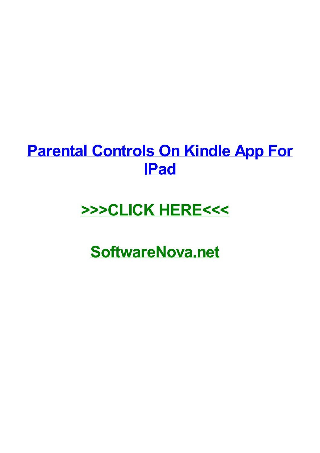 Parental controls on kindle app for ipad by ericgylw - issuu