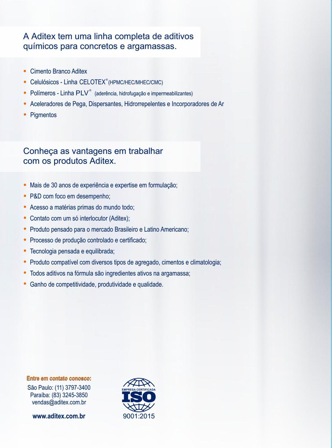 Linha Completa de produtos Aditex - 2018 by Aditex ADITIVOS QUÍMICOS