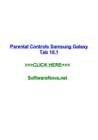 Galaxy tab parental settings