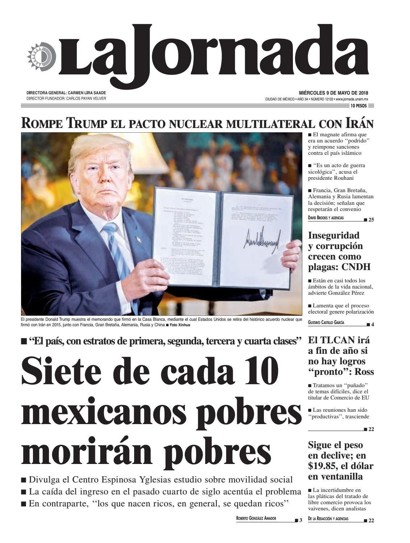 La Jornada, 05/09/2018 by La Jornada: DEMOS Desarrollo de Medios SA ...