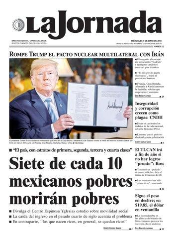 298eb42be6e4f MIÉRCOLES 9 DE MAYO DE 2018 CIUDAD DE MÉXICO • AÑO 34 • NÚMERO 12133 •  www.jornada.unam.mx