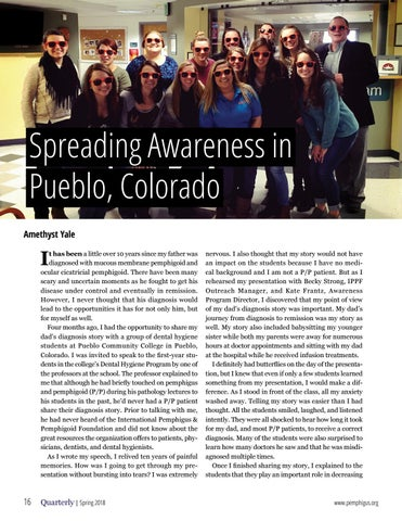 Page 16 of Spreading Awareness in Pueblo, CO