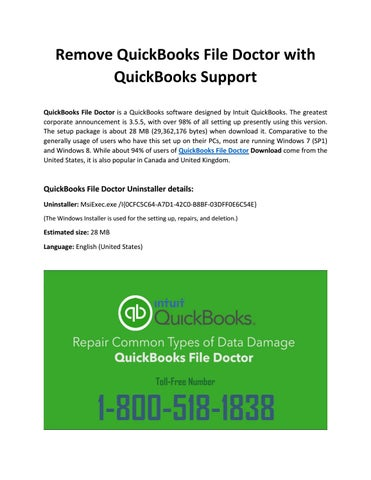 remove quickbooks file doctor with quickbooks support by robert