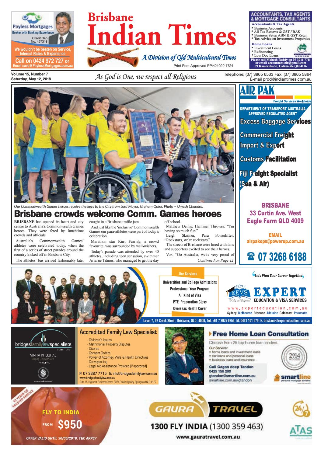 Brisbane Indian Times - May 2018 by Umesh Chandra - issuu