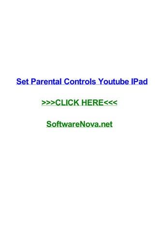 Set parental controls youtube ipad by feliciapreg - issuu