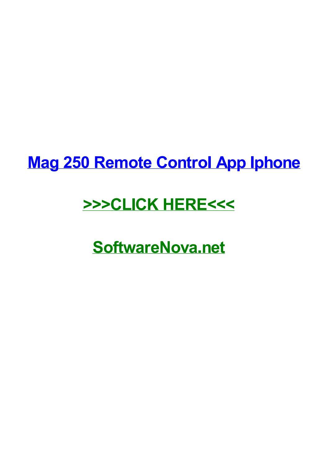 Mag 250 remote control app iphone by bryaneshdp - issuu