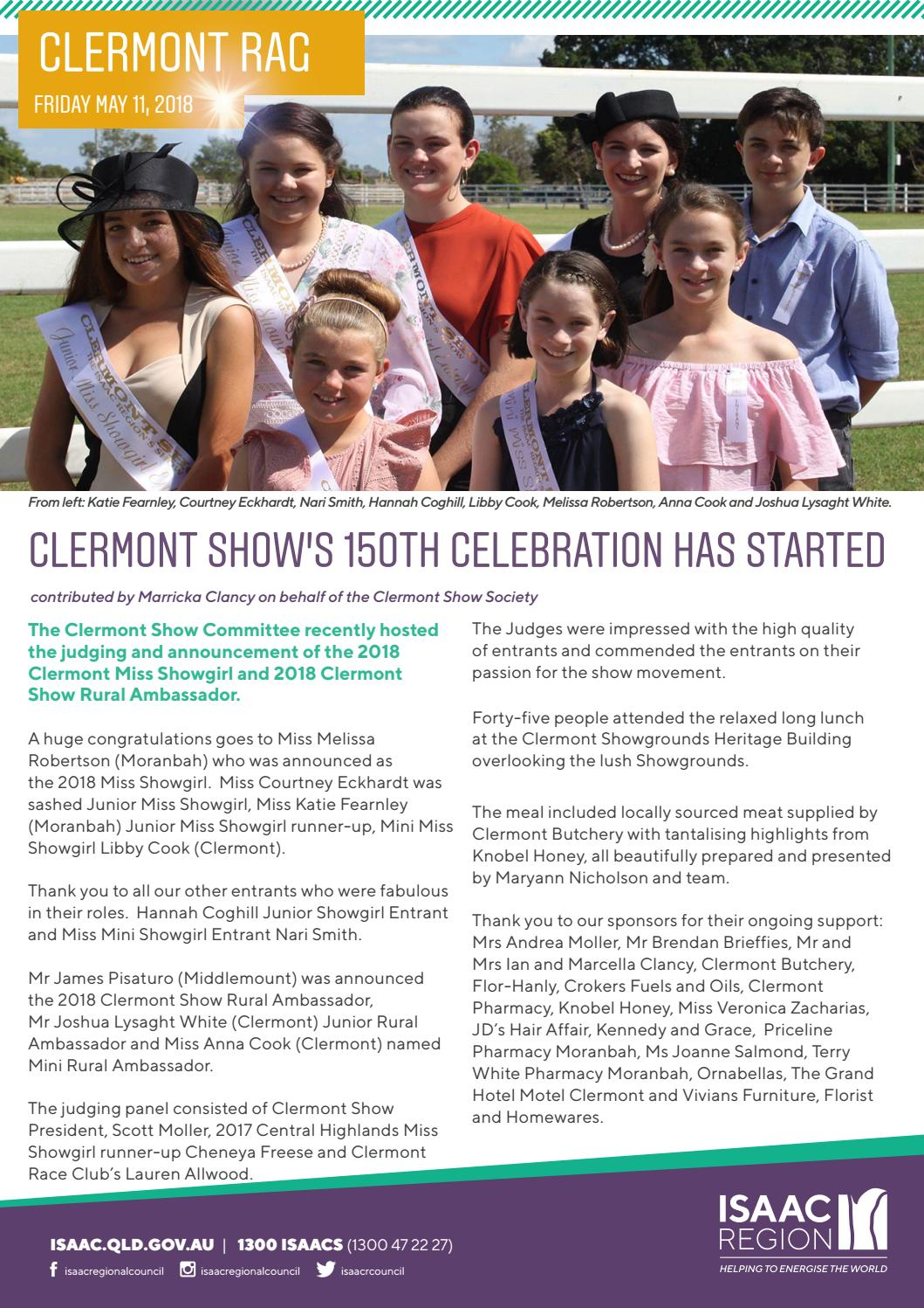 Clermont Rag 11 May 2018 by Isaac Regional Council - issuu