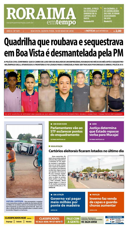 5cf25578a Jornal roraima em tempo – edição 929 by RoraimaEmTempo - issuu