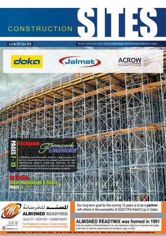 QCSites I April2018 I issue no 127 by Qatar Construction Sites - issuu