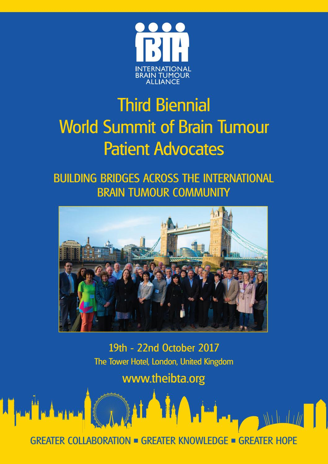 9e08777d0c4 Report on the Third World Summit of Brain Tumour Patient Advocates 2017 by  The International Brain Tumour Alliance (IBTA) - issuu