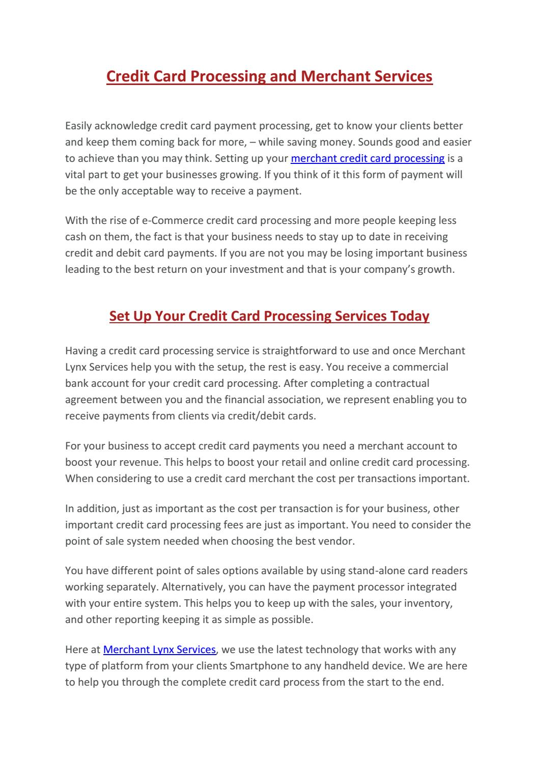 Credit card processing and merchant services by merchantlynx issuu reheart Image collections
