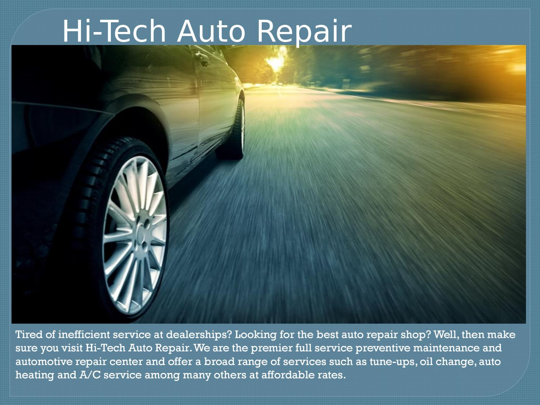 Auto Service Center Near Me Hi Tech Auto Repair By Hi Tech Auto