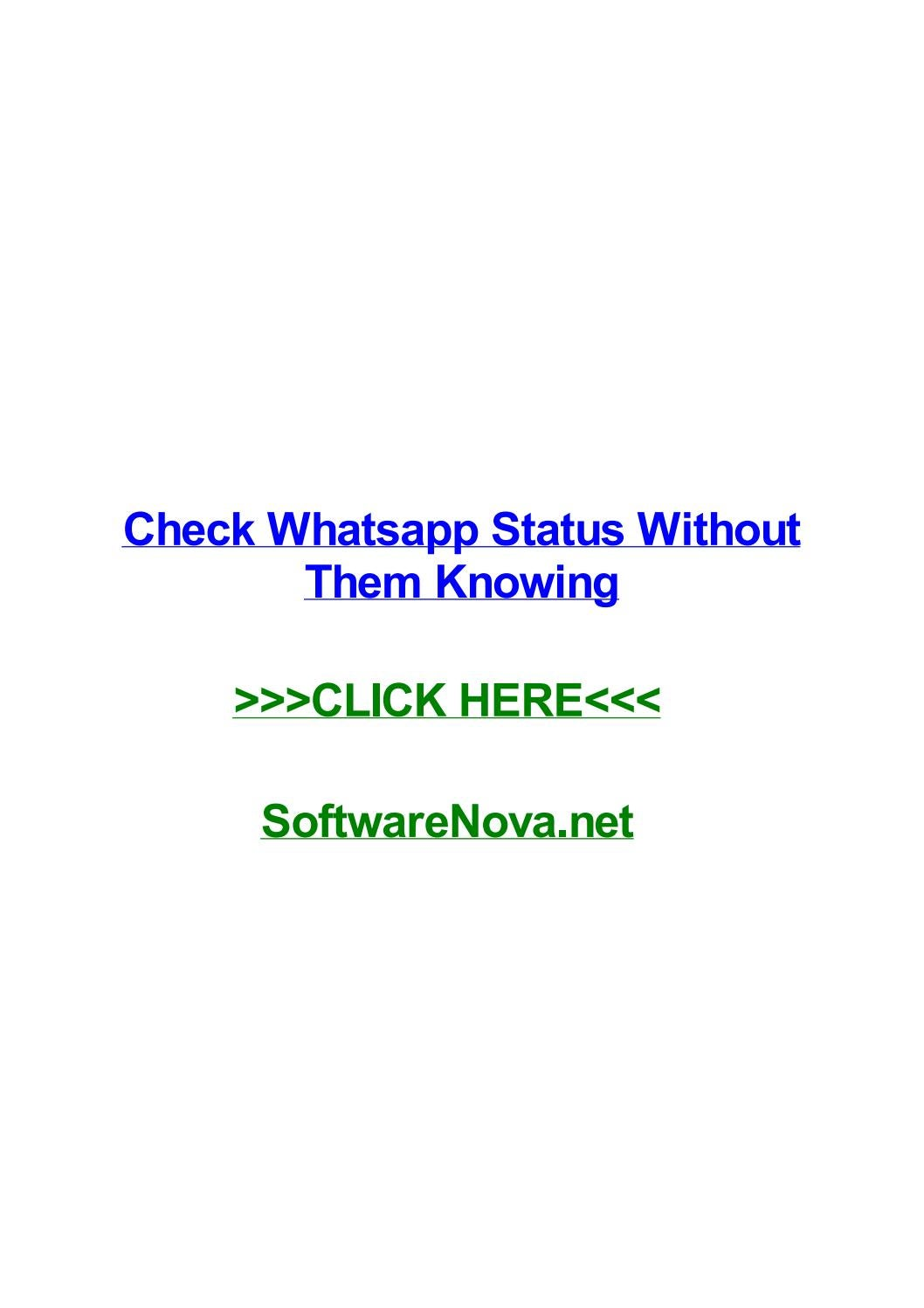 Check Whatsapp Status Without Them Knowing By Raulnmool Issuu