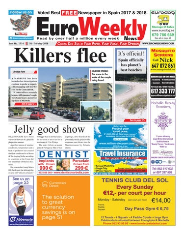 check out 4bd33 0e0f3 Euro Weekly News - Costa del Sol 10 – 16 May 2018 Issue 1714 by Euro ...