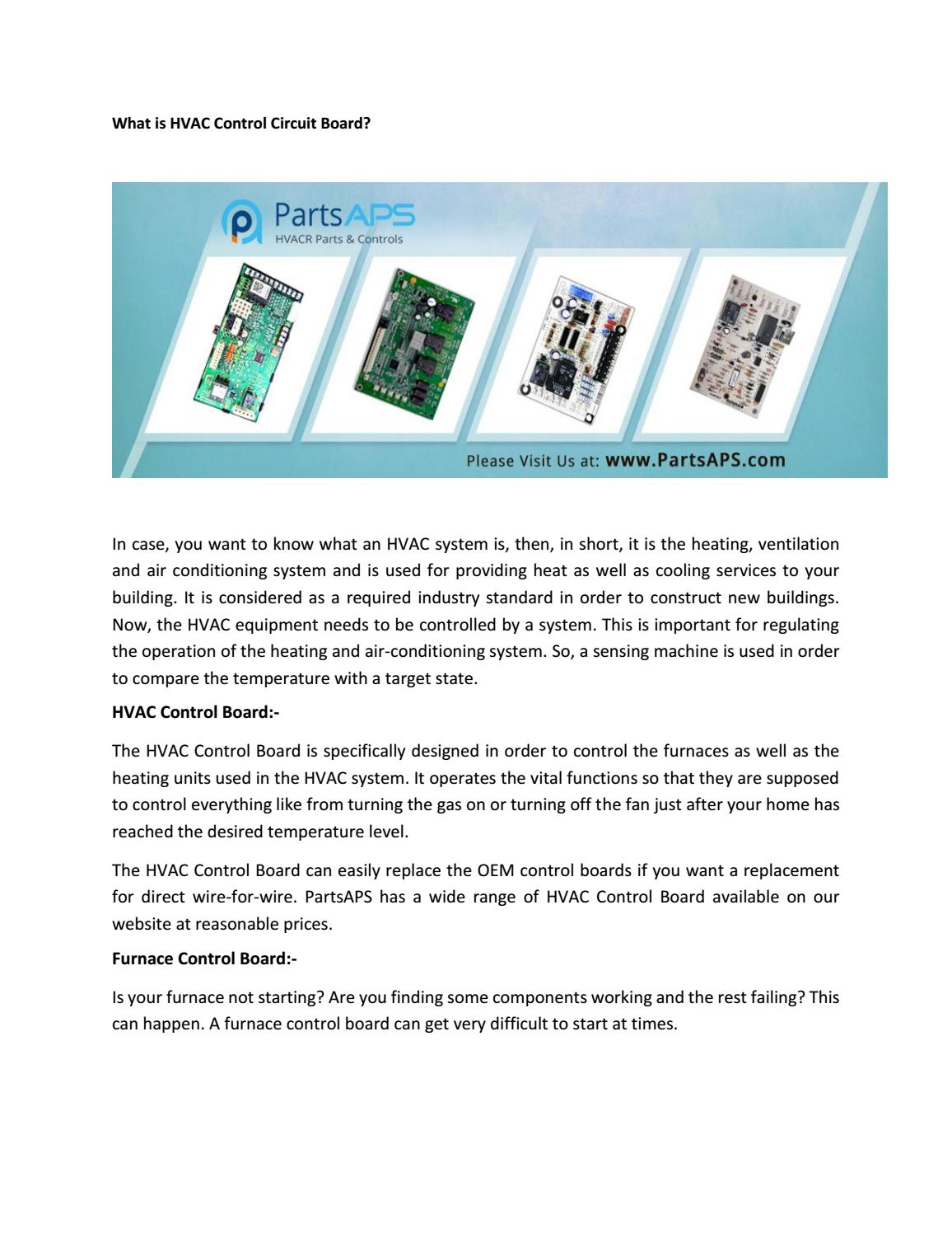 What Is Hvac Control Circuit Board Air Conditioner Parts A Used For Refrigerator Partsaps By Issuu