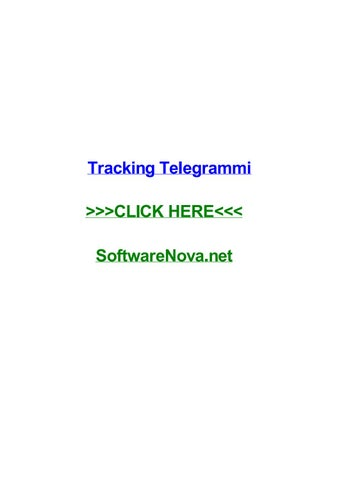 Tracking Telegrammi By Santoshwtzi Issuu