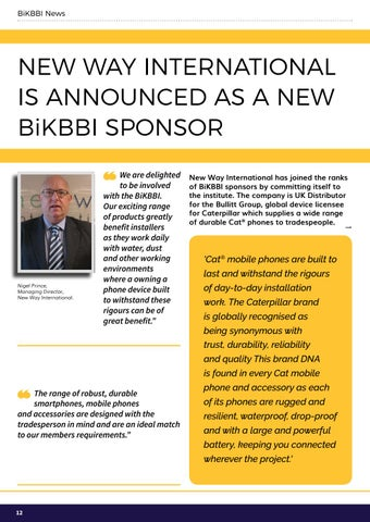 Page 12 of New Way International is announced as a new BiKBBI sponsor