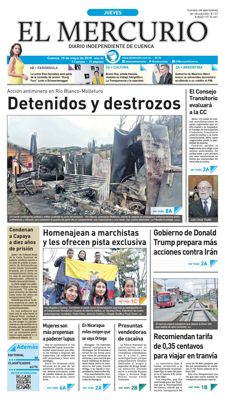 hemeroteca 10-05-2018 by Diario El Mercurio Cuenca - issuu