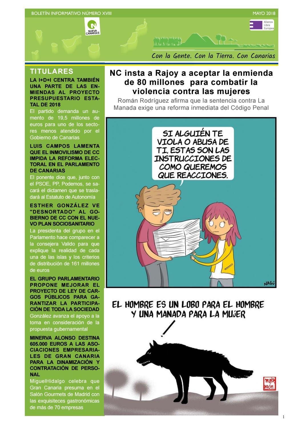 Boletín XVIII mayo 2018 by Nueva Canarias - issuu