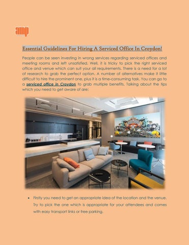 Essential Guidelines For Hiring A Serviced Office In Croydon By
