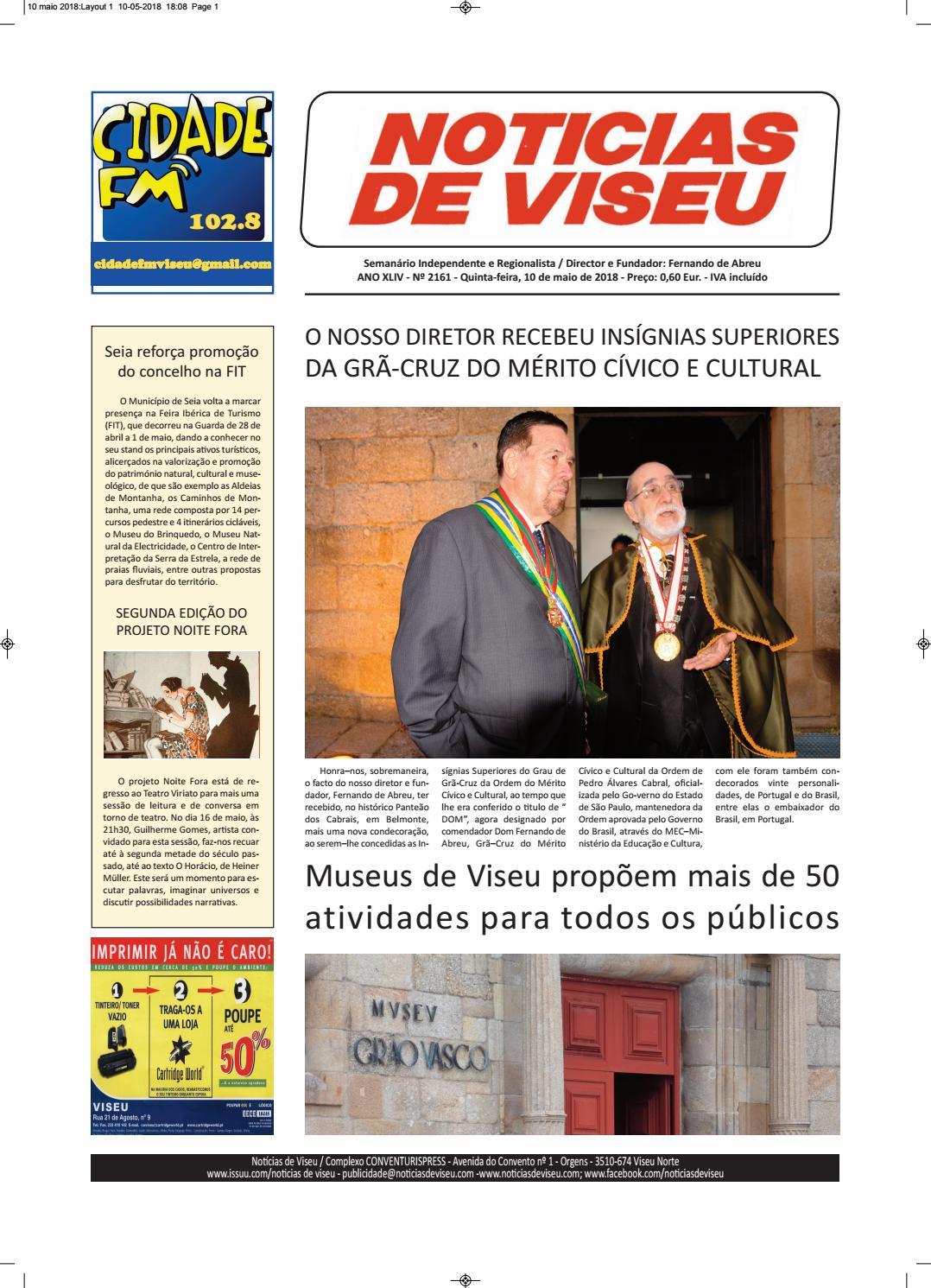 726a168fe9 Notícias de Viseu 10 maio 2018 by Noticias de Viseu - issuu