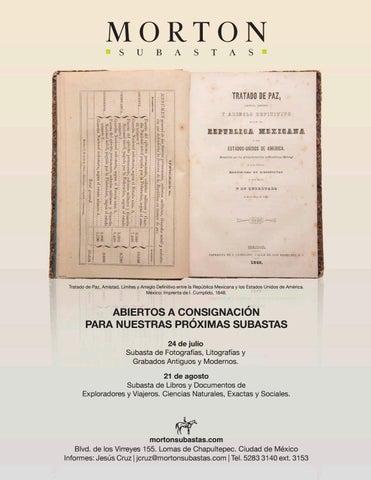 6b2a446a4340 Subasta de Libros y Documentos de Historia de México y Universal by ...