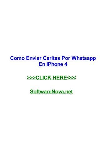 Como Enviar Caritas Por Whatsapp En Iphone 4 By Davidcmuga