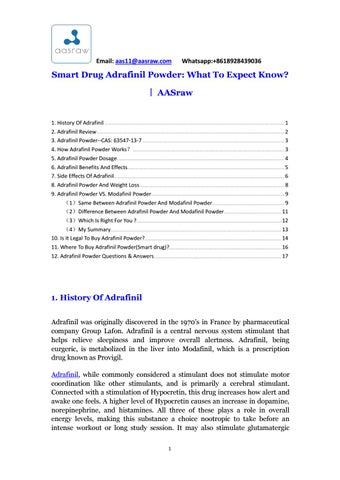 Smart drug adrafinil powder what to expect knowaasraw (2) by