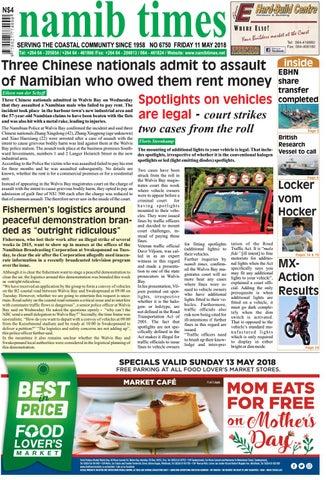 23 march namib times e edition by Namib Times Virtual - issuu