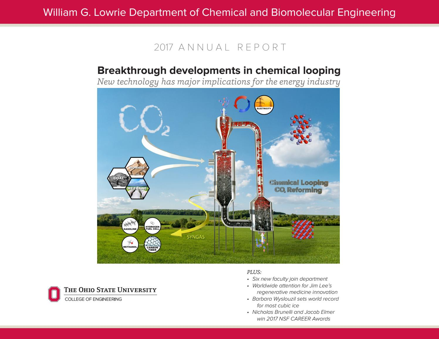 2017 Annual Report Ohio State University Chemical Engineering By Ohiostatecheme Issuu