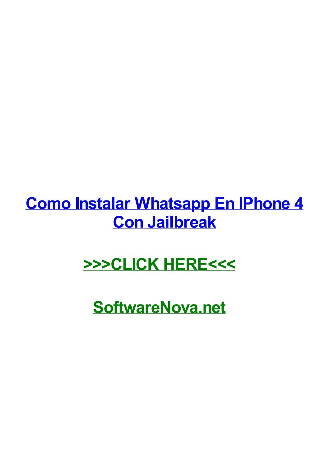 Como Instalar Whatsapp En Iphone 4 Con Jailbreak By